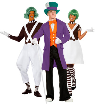 willy wonka and oompa loompa costumes