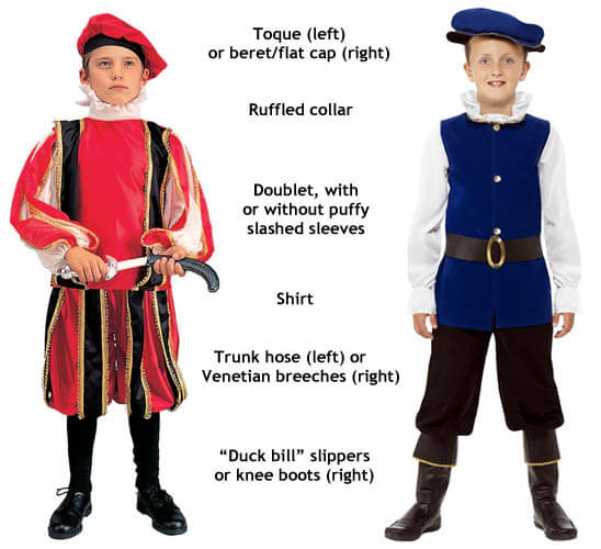 boys renaissance and tudor costumes