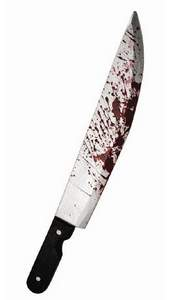 plastic bloody cleaver