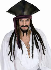 caribbean pirate wig and hat