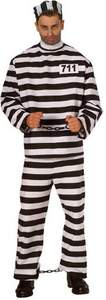 adult striped prisoner costume