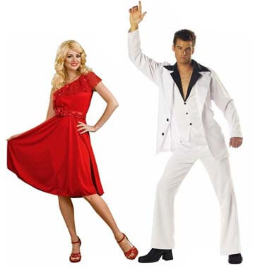 70s disco saturday night fever couple costume