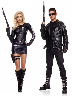 80s terminator couple costumes