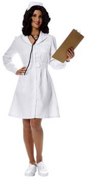 womens white retro nurse costume