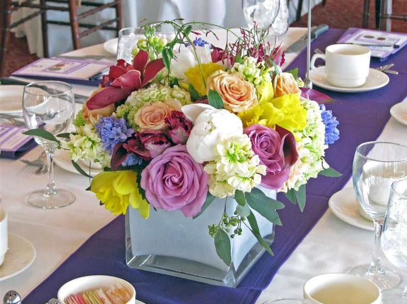 Acrylic Cubic Round Flower Vases Centerpiece Ideas Diy