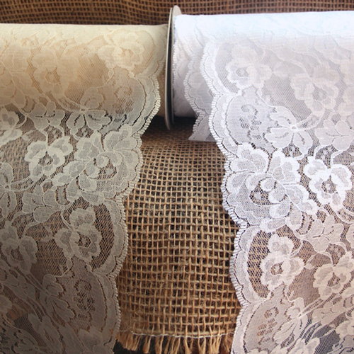 Bulk Lace~50 Yards White 3 Inch Wide Ruffled Floral Lace Trim