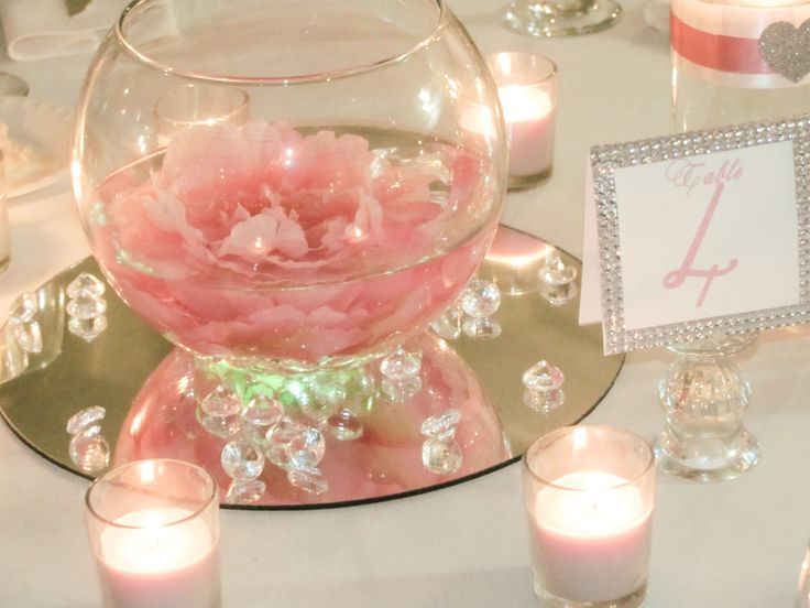 Craft Glass Mirrors Wedding Centerpieces Diy
