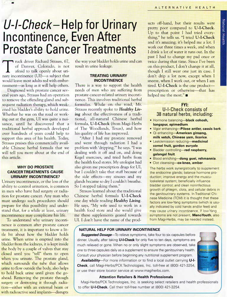 Help for Urinary Incontinence, Even After Prostate Cancer Treatments