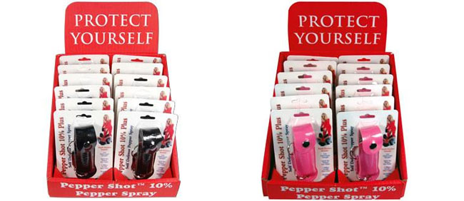 Pepper Spray Display 12 pack