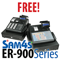 SAM4s ER-925 with a credit card terminal