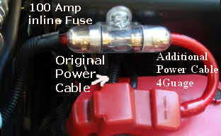 1 0 Gauge Power Cable With Inline Anl Fuse 150 Amp