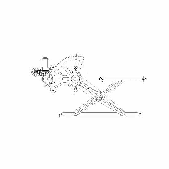 lh front driver side power window regulator assembly for 2005-2011 toyota camry