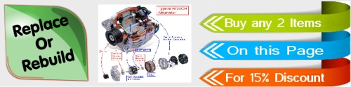 Replace or Rebuild your Alternator here