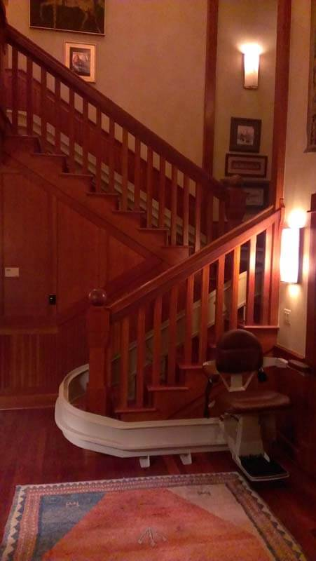 Below Are Examples Of Curved Stair Lifts Installed By All In One Mobility