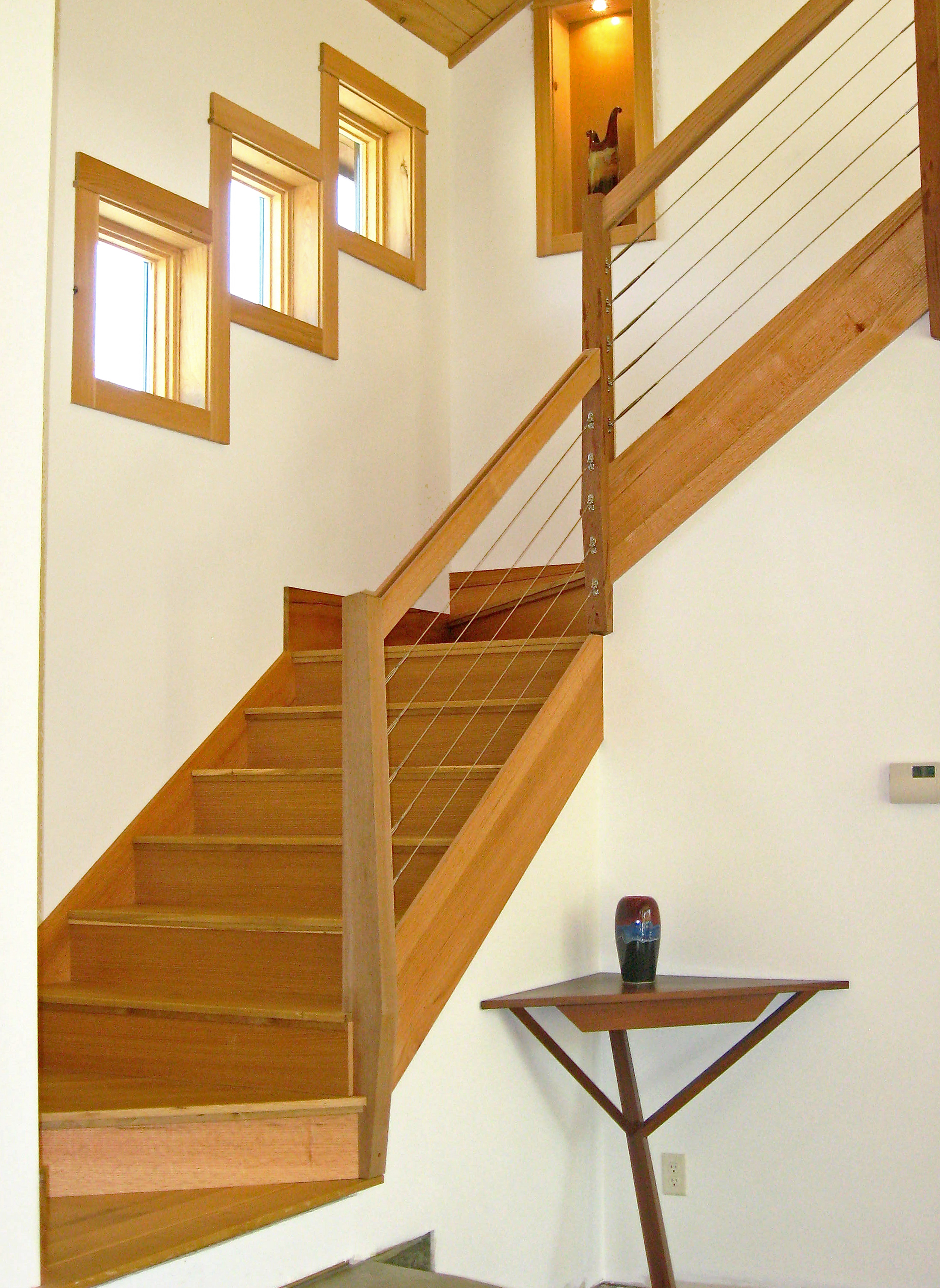 cable infill stair cable railing idea