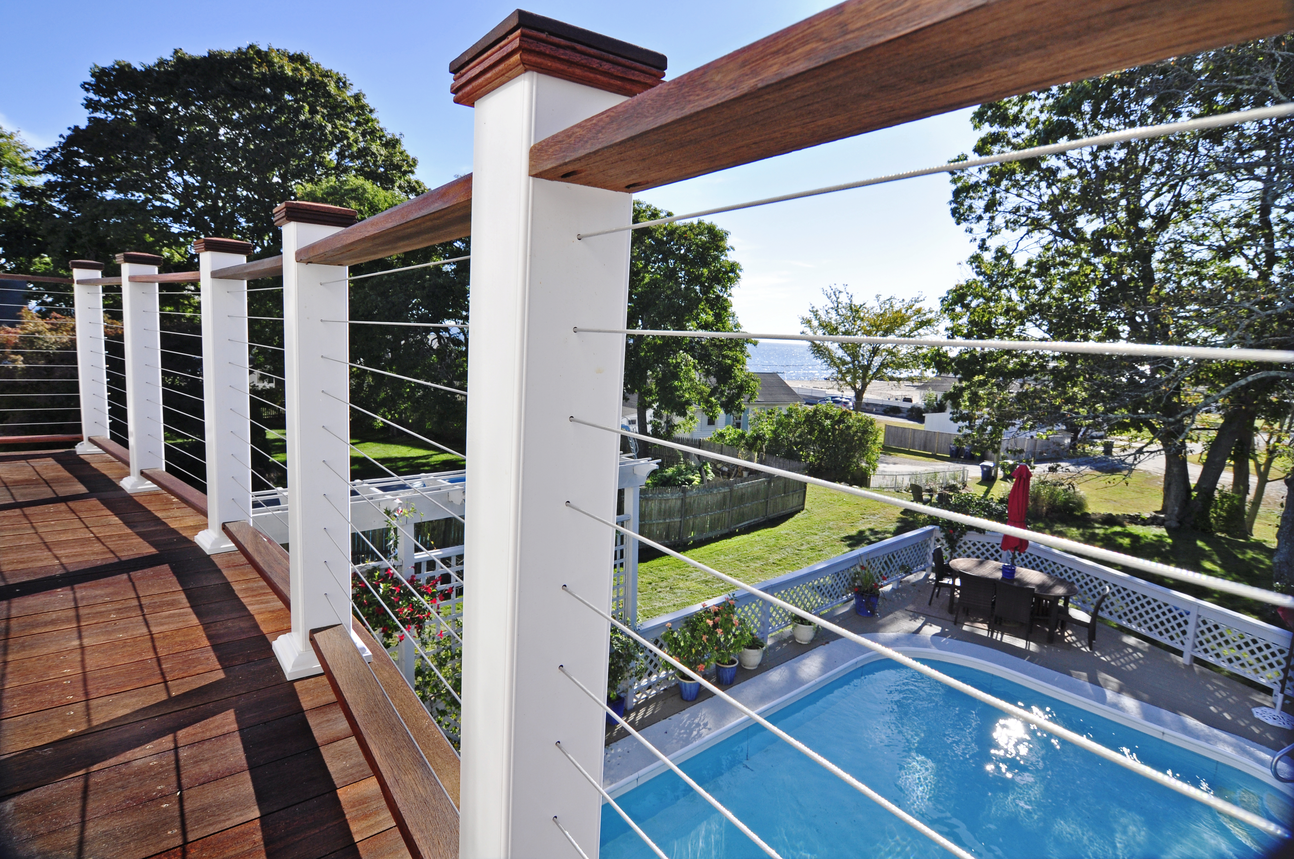 Image Result For Steel Cable Railing Wood Posts