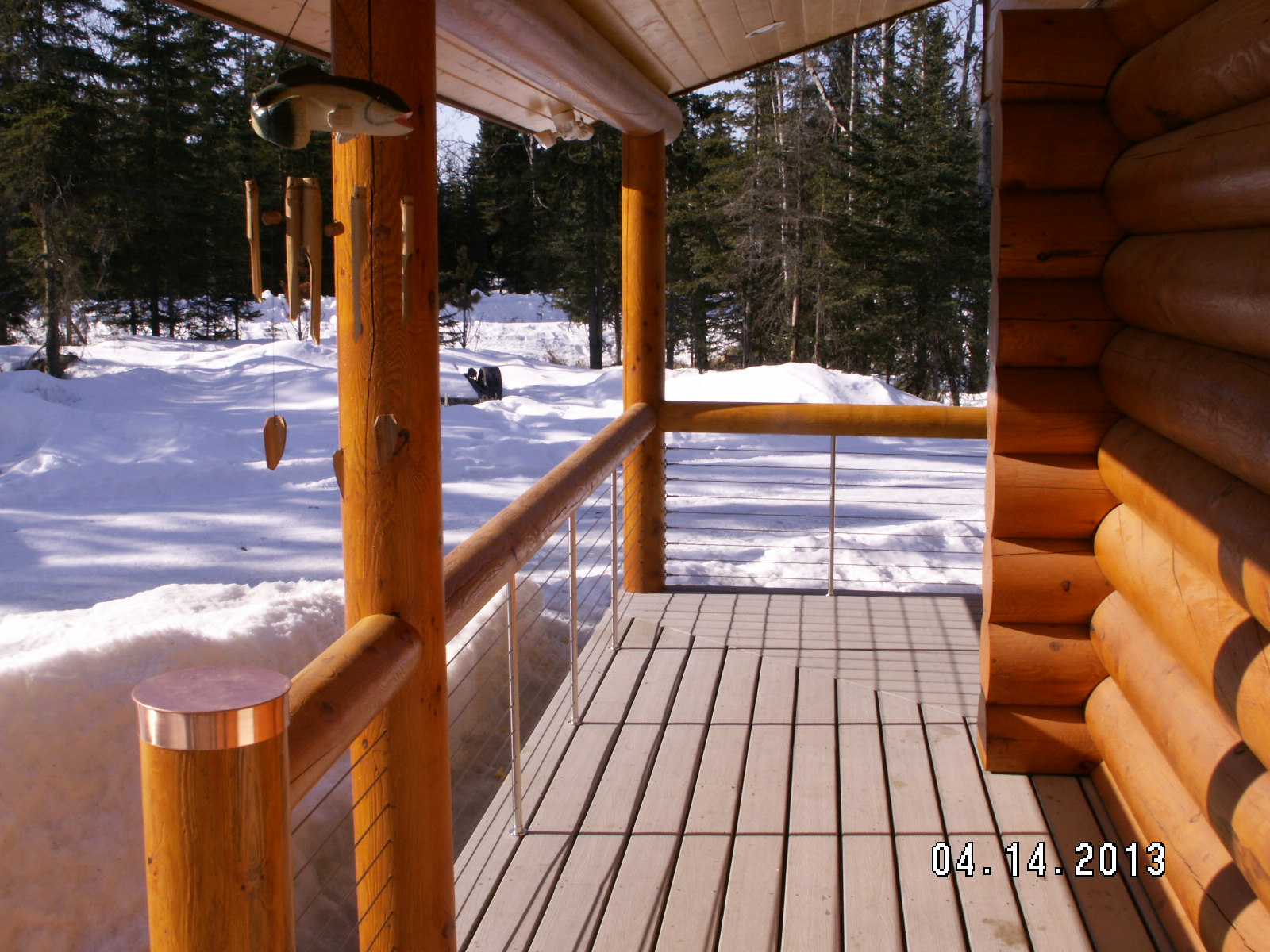 stainless steel deck cable railing idea