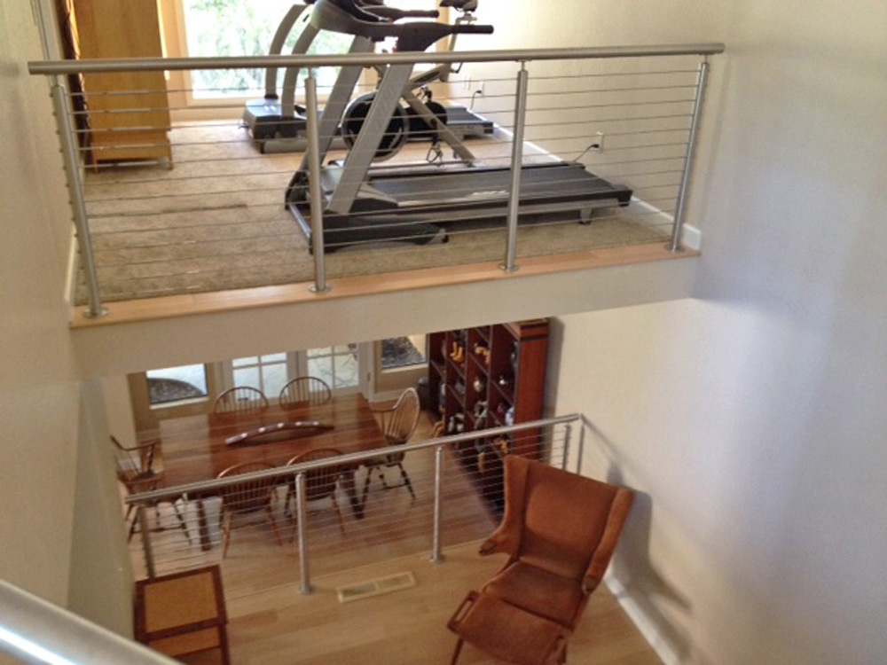 round stainless steel loft cable railing idea