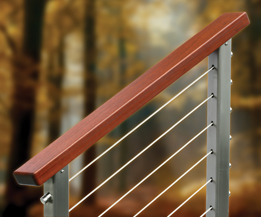 Ipe Wood Cable Railing System
