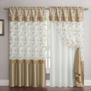 $16.99   Any Size. Audrey Embroidered Curtain