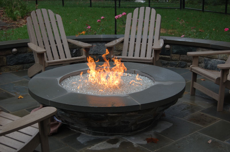 Outdoor Fire Pit Accessories - Octagon propane fire pit table