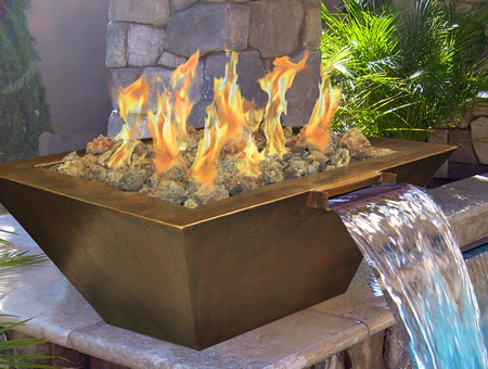 Complete Fire Pit Packages: *Available In Both Match Lit And Remote  Ignition *Copper Bowls Can Be Converted For Fire And Water Feature