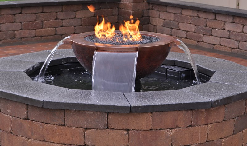 Aquaflame360 Complete Fire And Water Feature