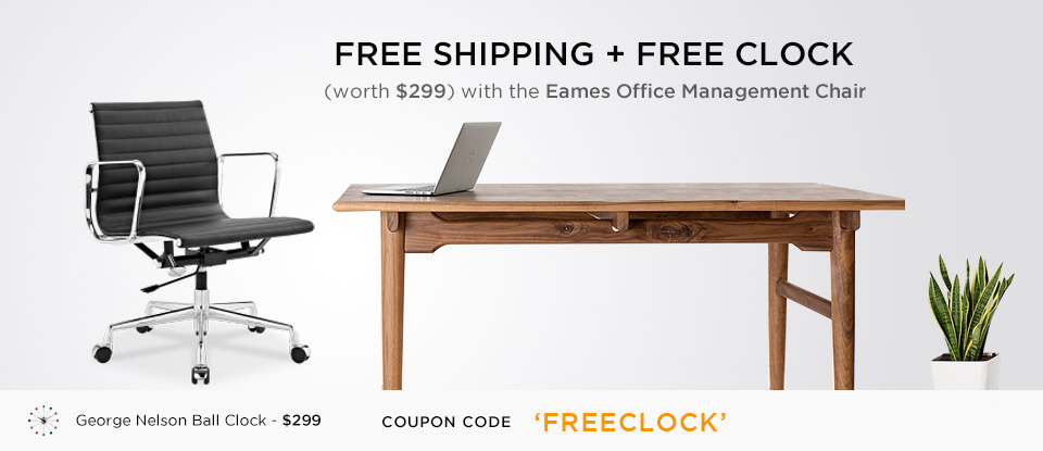 Free George Nelson Ball Clock + Free Shipping