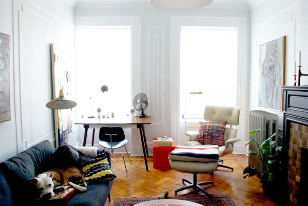 The Eames Lounge Chair in Small NYC Apartments and Other Small Spaces