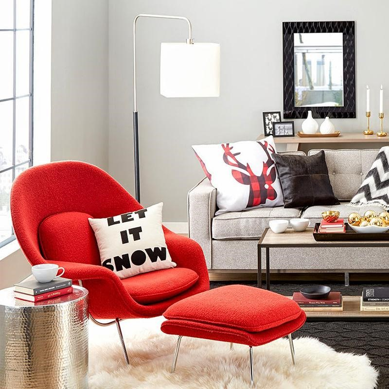 Suggested Item: Red Womb Chair U0026 Ottoman