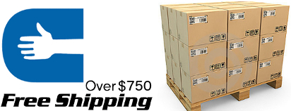 free shipping over $750 on latex, nitrile gloves and vinyl gloves