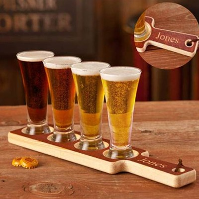 Real Wood Beer Tasting Set