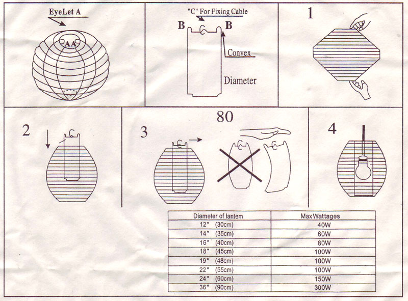 User Manual Of Paper Lantern