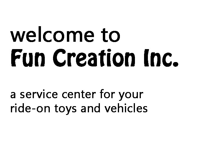 Ride-On Vehicles, Ride-On Toys, Replacement Parts and User