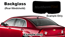 Backglass Precut Window Tint Kits
