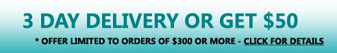 Receive your EGLO order in 3 days or get $50