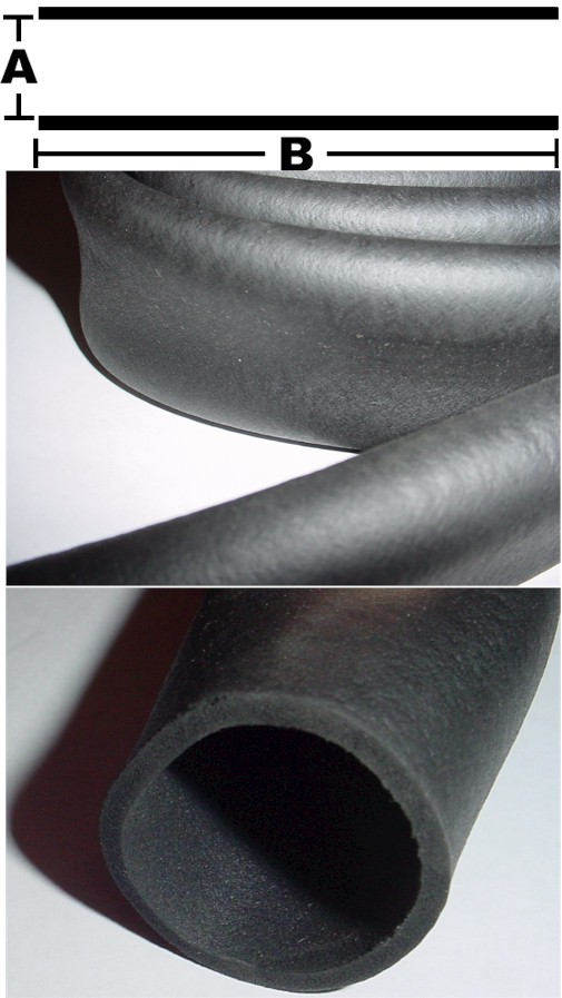Replacement High Density Rubber Handle Grip For Fitness