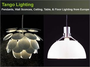 Tango Lighting, Wall Sconce, Ceilings, Pendant & Table Lightings