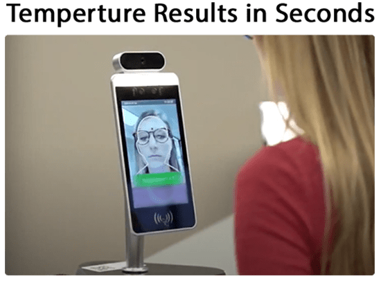 Contactless Temperature Scanning Kiosk with Facial Recognition