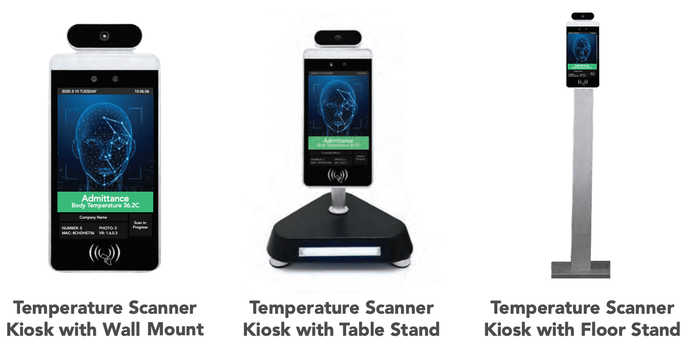 Contactless Temperature Scanning Kiosk with Facial Recognition.