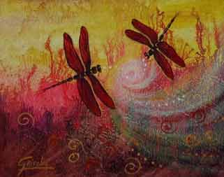 Dragonfly Magic - Art by Griselda Tello