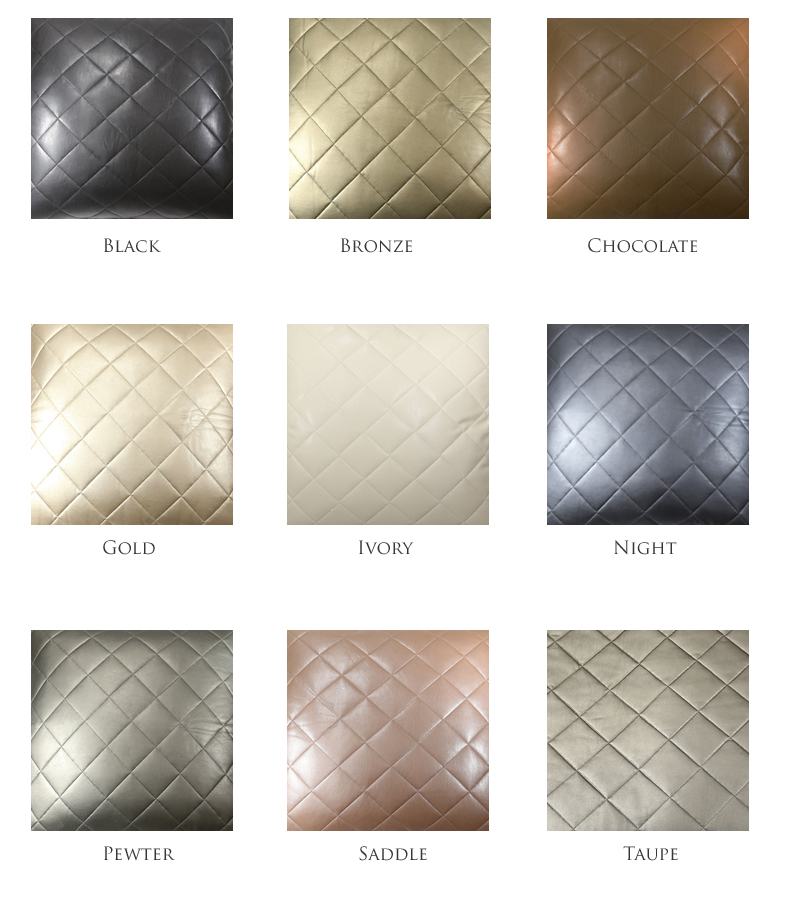 ann gish faux leather throw,quilted