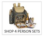 picnic baskets for 4, picnic backpacks for 4, Four person picnic sets
