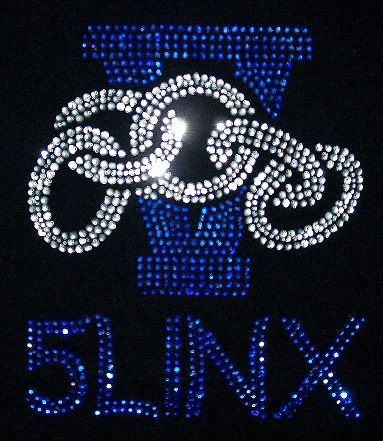 5 Links Custom Rhinestone Design