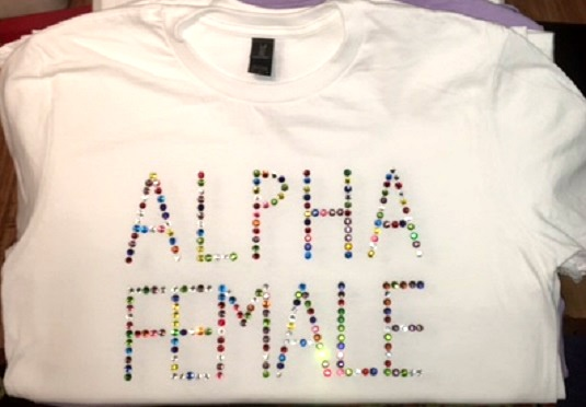 Alpha Female rhinestone design