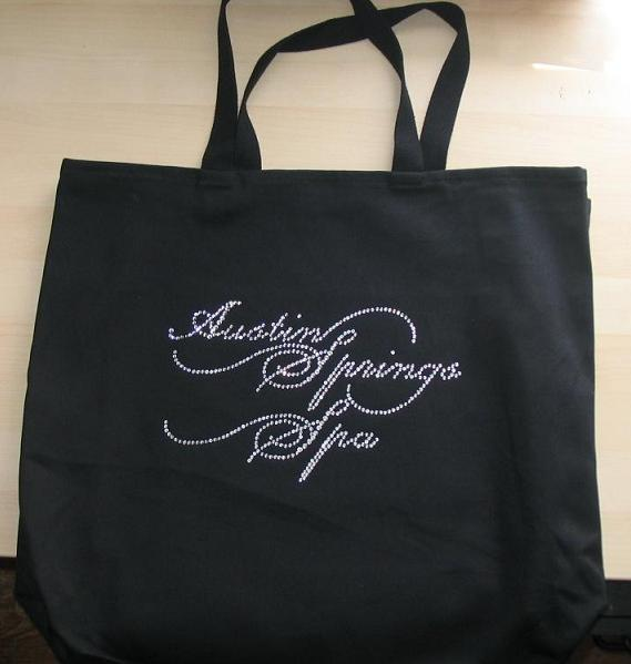 Austin Springs spa custom rhinestone shirts