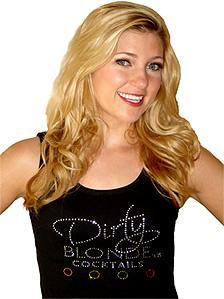 Dirty Blonde Cocktails rhinestone tank top