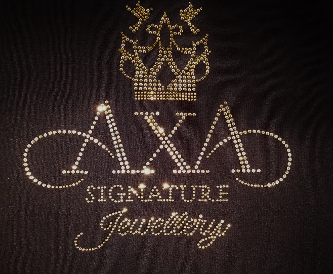 AXA Signature Jewellery rhinestone design