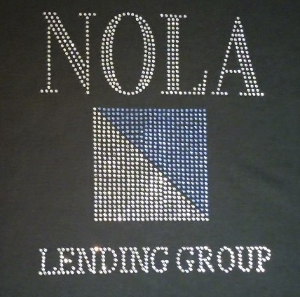 NOLA Lending Group rhinestone shirt
