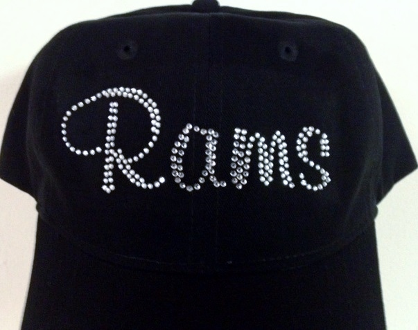 Rams custom rhinestone design